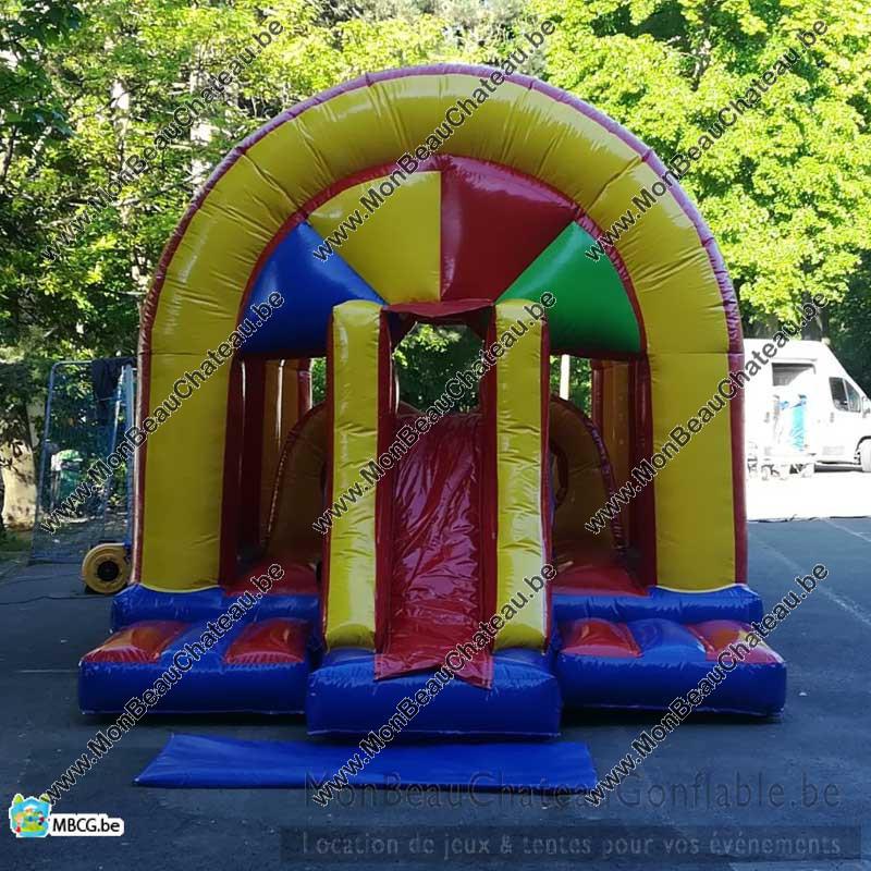 Le Multi Play - Parcours d'obstacle gonflable - toboggan - couvert livré