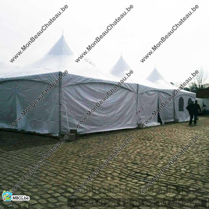 Tente Pagode Pro - 6m x 24m - livrée - montée