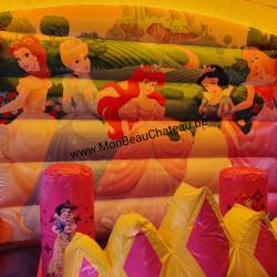 décoration château gonflable pour filles