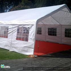 tonnelle de 6x12 avec tapis rouge