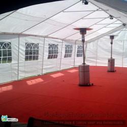tonnelle de 6x12 avec en option: plancher, tapis , lumière et chauffage