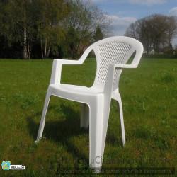 Chaise de jardin blanche -...