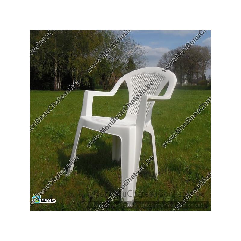 chaise de jardin blanche - Chaise De